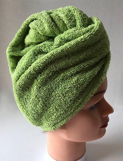 Green head towel